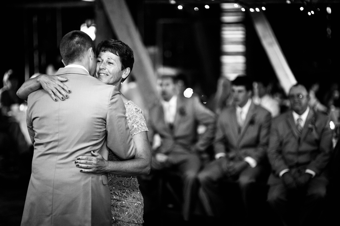 Groom dancing with mother at reception. Somerset PA wedding photography.