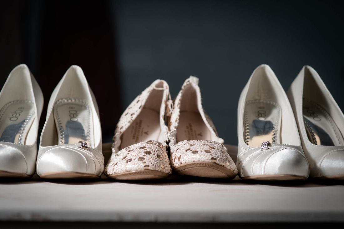 Wedding Photography. bride and bridemaids shoes.